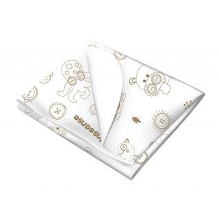 Inseense Клеёнка 50х70 см подкладная с ПВХ-покрытием без обработки (белый с рисунком) - Инсайнс