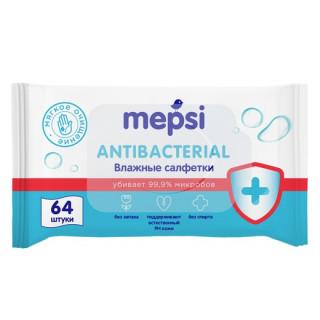 Mepsi Антибактериальные Влажные салфетки, 64 шт