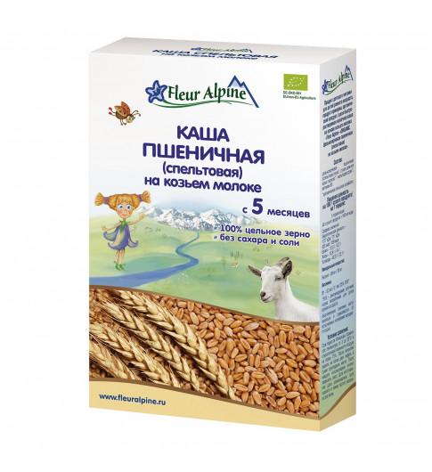 Флер Альпин (Fleur Alpine) на Козьем Молоке Пшеничная (спельтовая),5 мес. 200 г