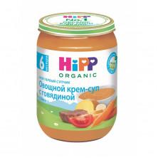 Hipp Крем-суп овощной с говядиной, 6 мес+, 190г