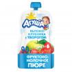 Агуша пюре Яблоко клубника Творог, 6мес+, 90 гр - пауч