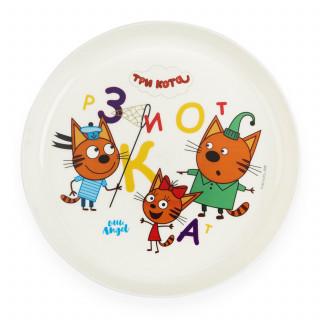 Little Angel тарелка Три Кота Учимся считать, 6мес+, 450 мл