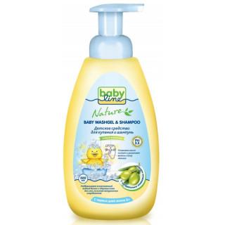 Babyline Nature Средство для купания и шампунь с маслом оливы, 0мес+, 500 мл