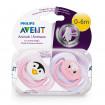 Philips Avent Пустышка 0-6 месяцев, серия Животные - 2 шт (Для девочки)