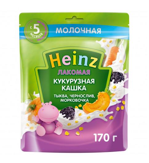 Heinz Каша Лакомая Кукурузная тыква-чернослив-морковь, 6мес+, 170гр хайнц