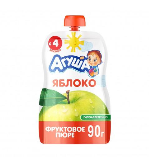 Агуша пюре Яблоко, 4мес+, 90 гр - пауч