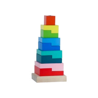 "Alatoys Пирамидка ""Ступеньки"", дерево - 10 деталей"