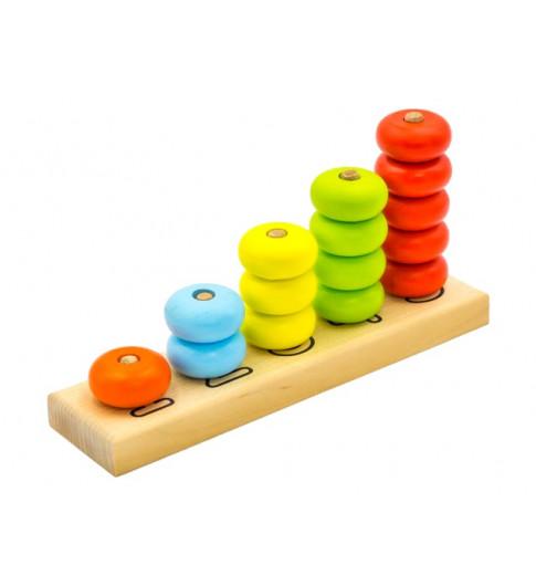 "Alatoys Пирамидка ""Счеты"" - учим цвета"