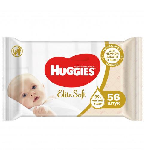 Huggies Влажные салфетки Elite Soft 56 шт