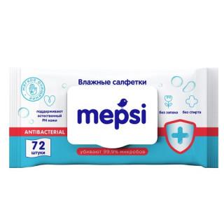 Mepsi Антибактериальные Влажные салфетки, 72 шт