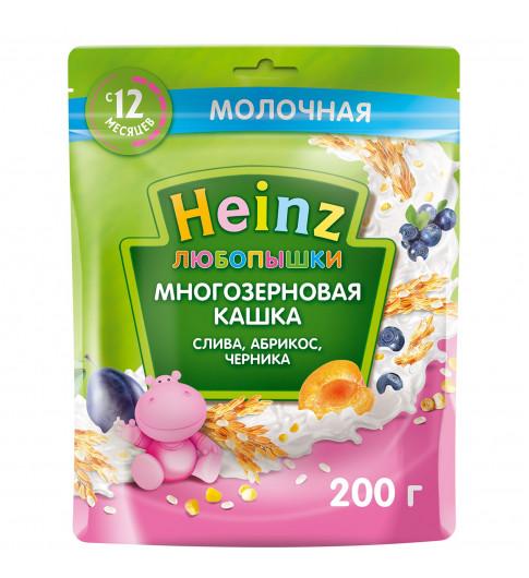 Heinz Любопышка слива, абрикос, черника, 12мес+, 200 гр  Хайнц