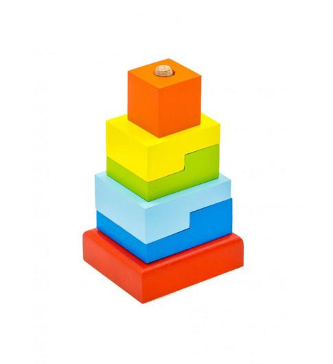 "Alatoys Пирамидка ""Ступеньки"", дерево - 6 деталей"