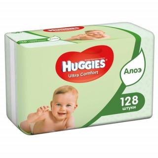 Huggies Влажные салфетки Elite Soft с Алоэ Вера, 128 шт - 2 пачки по 64 шт