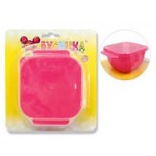 Бусинка тарелка-контейнер 6мес+ - розовый
