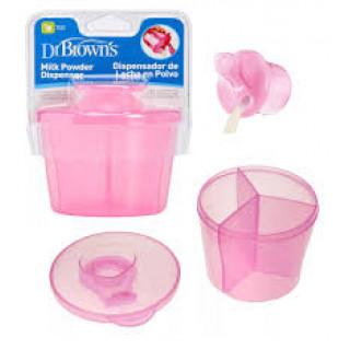 Dr.Brown`s дозатор молочной смеси 3-х секционный  - розовый