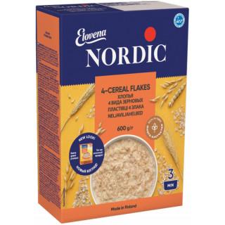 Nordic Хлопья Четерех видов зерновых, 600 гр