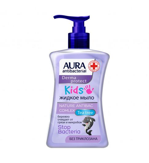 Aura Kids Крем-мыло для рук антибактериальное детское, 250 мл