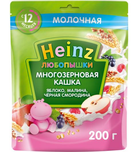 Heinz Любопышка Яблоко, Малина, Черная Смородина, 12мес+, 200 гр Хайнц