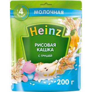 Heinz Каша Рисовая с Грушей молочная, 6мес+, 200 гр хайнц