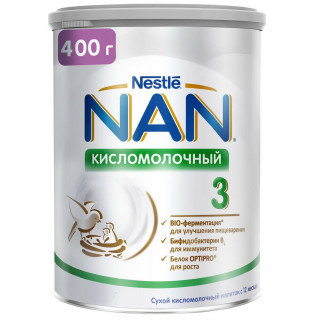 NAN 3 кисломолочный 400г с 12мес
