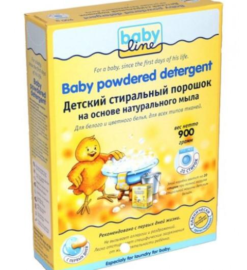 Babyline Детский стиральный порошок на основе натурального мыла, 900гр