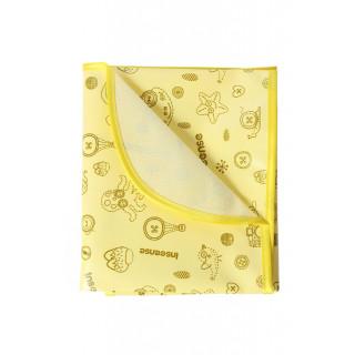 Inseense Клеёнка 50х70 см подкладная с ПВХ-покрытием с обработкой (желтый с рисунком) - Инсайнс