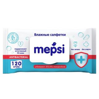 Mepsi Антибактериальные Влажные салфетки, 120 шт