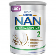 NAN 2 кисломолочный 400г с 6мес