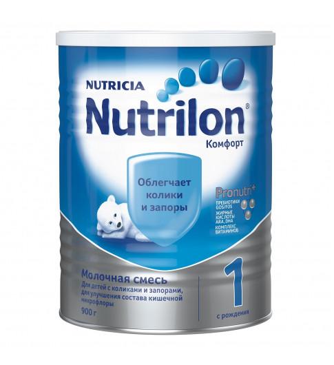 Nutrilon Комфорт 1 молочная смесь, 900гр, 0мес+  (облегчает колики и запоры)