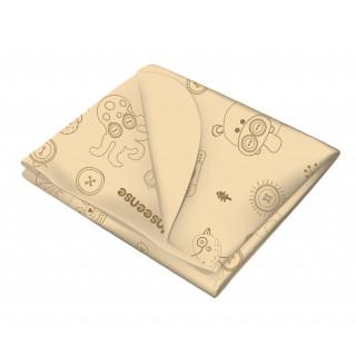 Inseense Клеёнка 50х70 см подкладная с ПВХ-покрытием без обработки (бежевый с рисунком) - Инсайнс