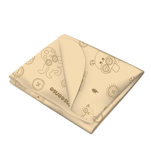 Inseense Клеёнка 50х70 см подкладная с ПВХ-покрытием без обработки (бежевый с рисунком), 50х70 см- Инсайнс