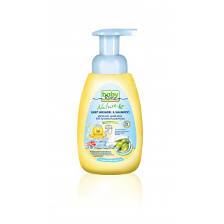 Babyline Nature Средство для купания и шампунь с маслом оливы, 0мес+, 250 мл