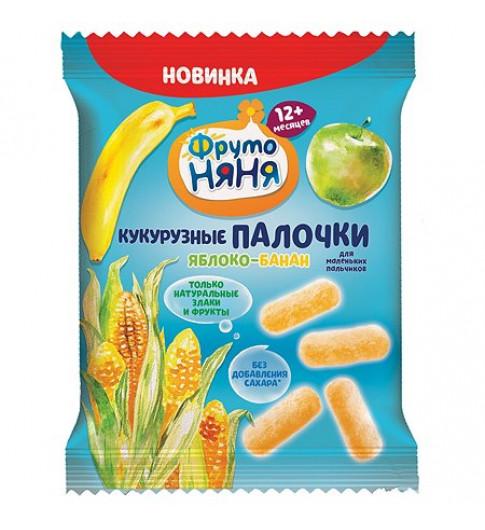 Фрутоняня Палочки кукурузные яблоко-банан 20г, 12мес+
