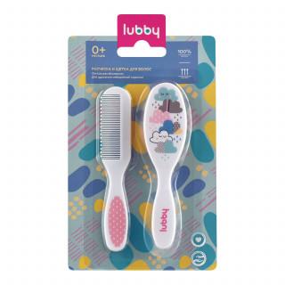 Lubby Расческа с щеткой для волос - натуральная щетина