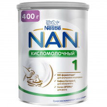 NAN 1 кисломолочный 400г с 0мес