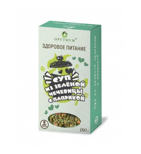 Оргтиум Суп из зелёный чечевицы с паприкой, 180 гр  - 8 порций