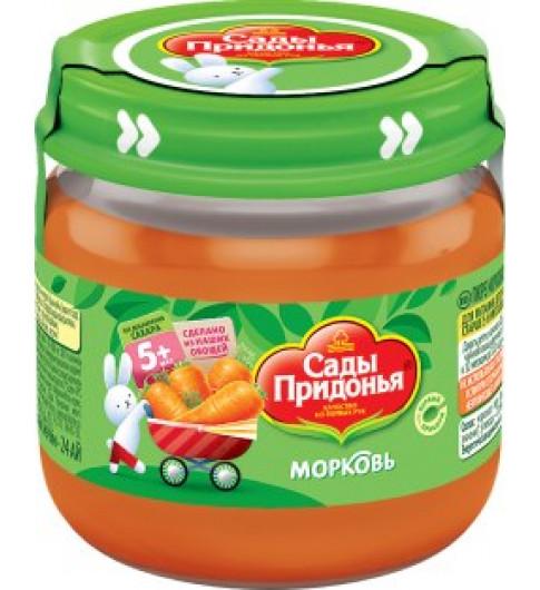 Сады Придонья пюре Морковь, 80гр, 5мес+ - стекло
