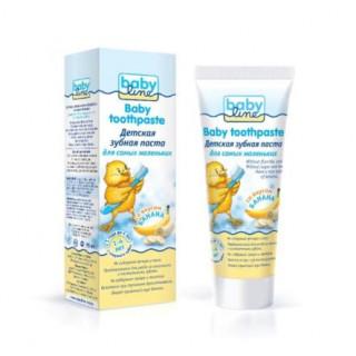 Babyline Детская зубная паста со вкусом банана, 75 мл, 1-4 лет