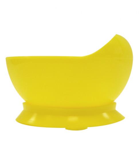 Lubby Тарелка с присоской желтая, 6мес+, 250 мл
