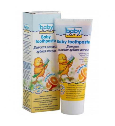 Babyline Детская зубная паста со вкусом апельсина, 2-10 лет, 75 мл