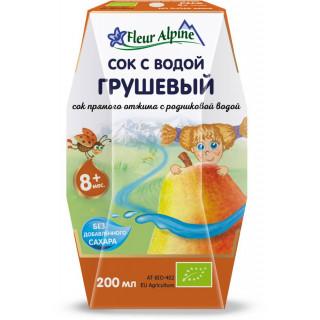 Флер Альпин (Fleur Alpine) сок с водой Грушевый, 8мес+, 200 мл - без сахара