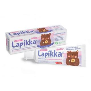 ROCS Lapikka Baby Зубная паста Бережный уход с кальцием и календулой 45г. 0мес+
