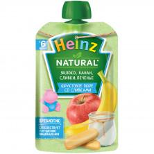 Heinz Пюре Яблоко Банан Печенье Сливки 6мес+, 90 гр Хайнц с сахаром