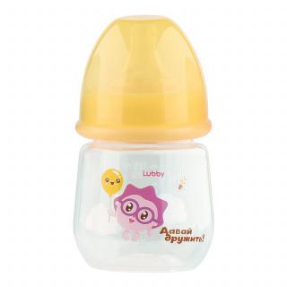 "Lubby Бутылочка для кормления ""Малышарики"", 125 мл. 0мес+"