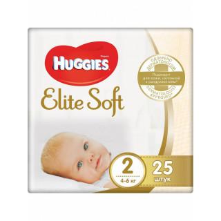 Huggies Подгузники Elite Soft 2 (4-6кг) 25 шт (Хаггис)