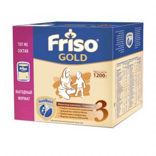 Friso Gold Молочная смесь 3, 12мес+, 1200 гр Фрисо