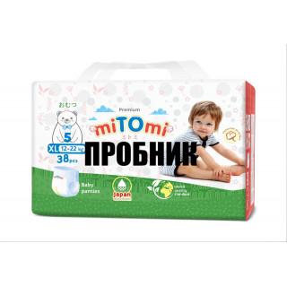 Пробник miTOmi Подгузники-трусики ХL (12-22 кг), 2 шт