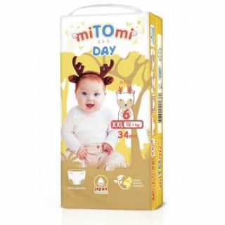 miTOmi Day Подгузники-трусики, XXL (15+ кг), 34 шт Митоми