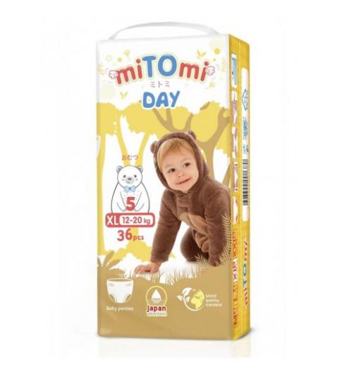 miTOmi Day Подгузники-трусики, XL (12-20 кг), 36 шт Митоми