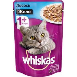 Whiskas Желе Лосось, 1 год+